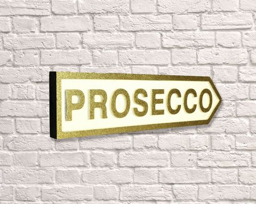Prosecco Arrow Gold Glitter
